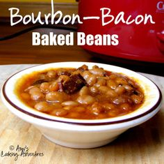 Amy's Cooking Adventures: Crockpot Bourbon-Bacon Baked Beans