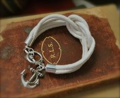 Anchor Knot Rope Bracelet.. i'm sure I could make this