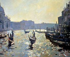 Ken Howard, Venice..... The light reflection from the water makes me search for my sunglasses it's so real xxx ❤