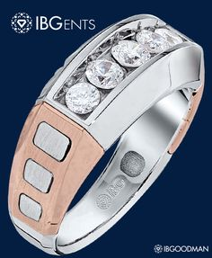 IBG's latest 5-stone rose gold men's ring that continues redefining style.