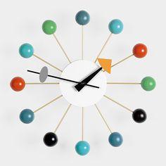 Nelson Wall Clock, Multicolor Ball