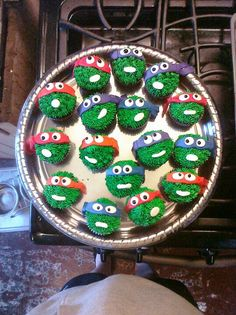 Teenage Mutant Ninja Turtle cupcakes 2