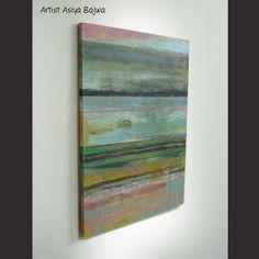 Original Abstract painting Acrylic painting Modern by AsiyaBajwa