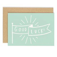 Good Luck Banner Card