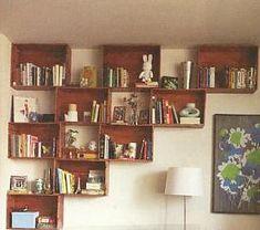 Modern bookshelves by High Fashion Home, via Flickr