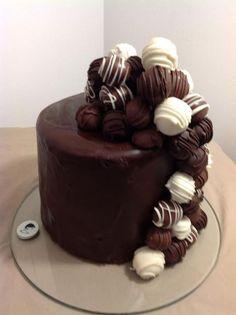 Cake Decorating: Chocolate Kahlua Cake Truffle Cake