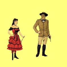 tubs annie oakley and buffalo bill  see also paperdolls 3