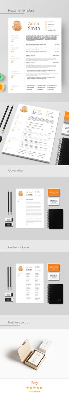 Resume Template And Cover Letter For Word And Pages | Two Page