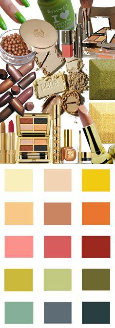 Makeup kleuren voor het herfsttype.