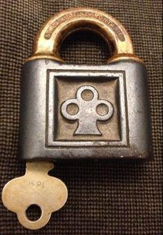 vintage Yale lock and key, c.1910