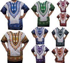 f8c2c023af2 DRESS AFRICAN DASHIKI SHIRT KAFTAN BOHO HIPPIE GYPSY FESTIVAL TOP UNISEX   Handmade  Sundress