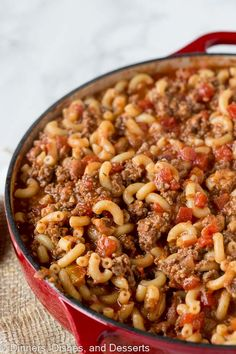 Our old fashioned goulash is SO EASY and SO DELICIOUS! Also called American Goulash or Johnny Marzetti, don't miss this beefy, cheesy recipe! Casserole Dishes, Casserole Recipes, Meat Recipes, Dinner Recipes, Cooking Recipes, Easy Goulash Recipes, Cooking Courses, Chicken Recipes, Recipies
