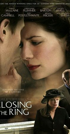 Closing the Ring A young man searches for the proper owner of a ring that belonged to a U. World War II bomber gunner who crashed in Belfast, Northern Ireland on June See Movie, Movie List, Movie Tv, Películas Hallmark, Hallmark Movies, Movies Showing, Movies And Tv Shows, Period Drama Movies, Period Dramas
