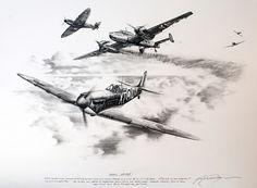 Originals by Nicolas Trudgian Ww2 Fighter Planes, Airplane Fighter, Airplane Drawing, Airplane Art, Gentleman Tattoo, Soldier Tattoo, Airplane Tattoos, War Tattoo, Aviation Decor