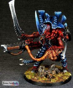 Metal Tyranid Hive Tyrant for Hive Fleet Behemoth