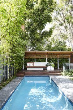 Pool + Garden Design. Randwick, Sydney - Outdoor Establishments Backyard Pools, Backyard Pool Designs, Pool Fence, Swimming Pool Designs, Pool Decks, Outdoor Pool, Garden Pool, Swimming Pools, Patio Design
