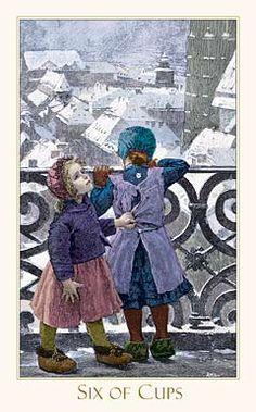 Victorian Romantic Tarot, Six of Cups
