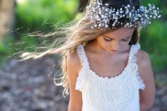 rustic flowergirl dress by Tea Princess http://www.teaprincess.com.au/collections/ivory-wildflower-collection