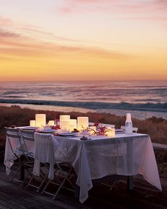 such a pretty sunset party table