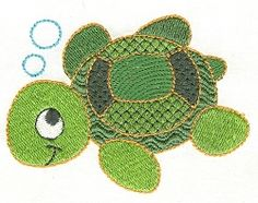 Baby Turtle 4x4 | Beach/Ocean | Machine Embroidery Designs | SWAKembroidery.com Designs by Juju