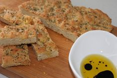 Gluten Free Italian Flatbread (Fococcia) - This herb filled bread, can be used to make sandwiches, cheese toast, croutons, topped with slow-roasted tomatoes or bruschetta, used to dip with olive oil and balsamic vinegar, or even as a pizza crust.
