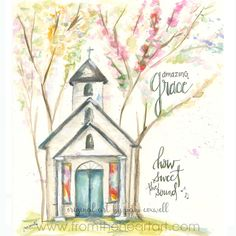 Spring Chapel – From the Heart Art Scripture Art, Bible Art, Scripture Painting, Bible Verses, Watercolor Paintings, Watercolors, Watercolor Pencils, Painting Abstract, Heart Art