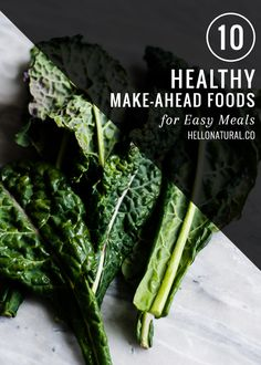 10 Make Ahead Foods for Healthy Eating