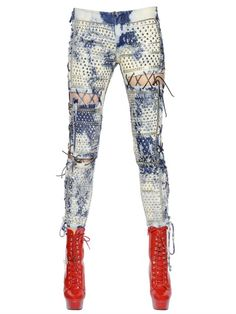 ASHISH - JEANS IN DENIM LAVATO CON BORCHIE - LUISAVIAROMA - LUXURY SHOPPING WORLDWIDE SHIPPING - FLORENCE