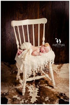 Cute Cowgirl/Western Newborn Baby Girl Photography