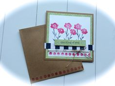 "thinking of you, ""Painted Petals"" stamp set, Stampin' Up!"
