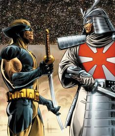 A sword-wielding mutant, Silver Samurai has often tangled with Wolverine as the bodyguard of Viper, and later an occasional mercenary. He is the head of Clan Yashida, as Wolverine's ex-fiancee formerly was. Marvel Villains, Marvel Comics Art, Marvel X, Gi Joe, Comic Books Art, Comic Art, Mariko Yashida, Lady Deathstrike, Silver Samurai