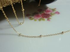 18K Gold Plate Sterling Silver Satellite 1.1mm Cable by TerraFinds