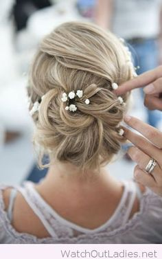 Glamorous hairstyle for the bride