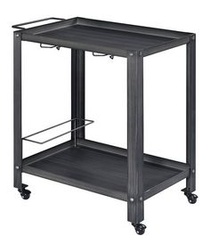 Love this Black & Brushed Silver Transitional Serving Cart on #zulily! #zulilyfinds