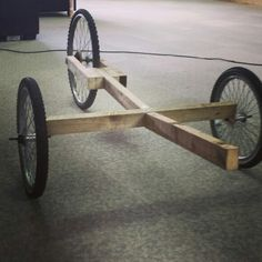 Simple potential format for higher capacity bike cargo trailer. Recumbent trike prototype taking shape. Bike Cargo Trailer, Soap Box Cars, Bike Cart, Wood Bike, Moto Car, Recumbent Bicycle, Reverse Trike, Wooden Car, Pedal Cars