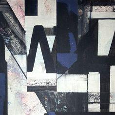 """""""Building Blocks"""", Karen Vogel, POSTSCRIPT, 8"""" x 8"""", Mixed Media on Wood Panel"""