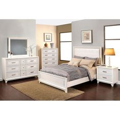 Bring luxury to your bedroom decor with the unique Allison bedroom collection. Designed with elegant and detailed hand-crafted materials. The Allison bed, chest, dresser and mirror set, nightstand is constructed of high-end tropical hardwood, covered with a rich ivory finish. Additionally, the exclusive performance vinyl upholstery located on the headboard and footboard is soft to the touch and unique in style, making this bed a eye-cacthing statement for any decor. Enjoy lavish style for…