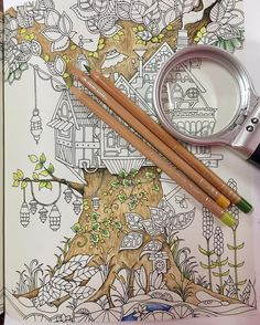 The Secret Garden Coloring Book CLOSE UP Of Right Side Gazebo Two
