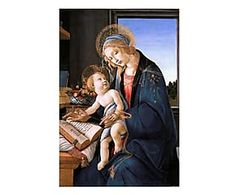 Stampa su tela Madonna del libro - 60x90 cm