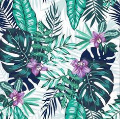 Excited to share this item from my shop: US Seller. Tropical Foliage and Flowers, Leaves, Diamond Painting Kit Full Drill. Tropical Wallpaper, Love Wallpaper, Plant Background, Textured Background, Tropical Pattern, Tropical Leaves, Hibiscus, Orchids, Flowers