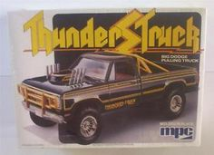 dodge truck model kits | ... Dodge Thunders Truck MPC 1:25 SEALED Vtg 80's Model Pickup Kit Longbed