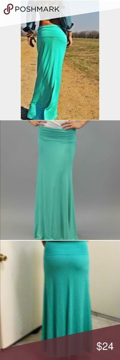 • New Mint maxi skirt S,L • Brand new mint maxi skirt available in size S or L, light soft jersey fabric ( not see through ). Perfect everyday skirt, pair it up with wedges and a tank top and your all set. BUNDLE & SAVE 20% ❌TRADES❌ Skirts Maxi