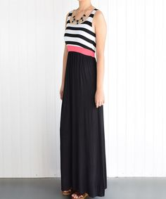 Look at this éloges Black Stripe Maxi Dress on #zulily today!