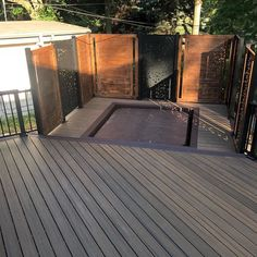 Laser cut privacy screens, sun shades, and interior/exterior design panels. Our high quality aluminium privacy screens come in a number of unique designs, to enhance your outdoor and indoor living space. Modern Exterior, Exterior Design, Interior And Exterior, Patio Design, Fence Design, Privacy Screen Outdoor, Privacy Panels, River Rock Patio, River Rocks