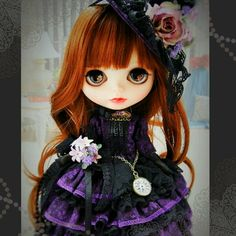 * Custom Blythe ** Amethyst Victoria  Buy her here:   #blythe #blythedolls #kawaii #cute #rinkya #japan #collectibles #neoblythe #customblythe