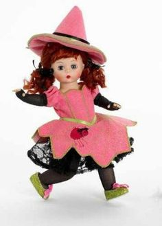 Buy Madame Alexander Wendy's Witchy Web Halloween Doll, Halloween Themes, Antique Dolls, Vintage Dolls, Dolly World, Madame Alexander Dolls, Dollhouse Dolls, Hello Dolly, American Girl