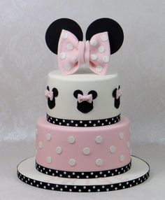 Minnie Cake by Violeta Glace Cakes Decorations Pinterest