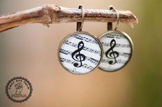 Music Note Earrings - Treble Clef Earrings - Music Earrings - Music Jewelry - Gift for Music Lover - Gifts For Musician - Music Teacher Gift