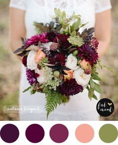 Magnificent Autumn Wedding Bouquets