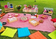 locação kit decoração criativa festa piquenique picnic